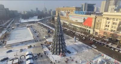 Новогодняя елка 2016/2017 на площади Свободы