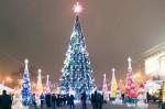 Харьковская елка официально признана самой высокой в Украине