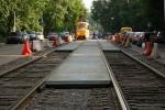 Трамвайные пути на Клочковской реконструируют по новой методике