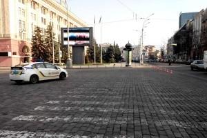 Движение транспорта на площади Свободы ограничено на неделю