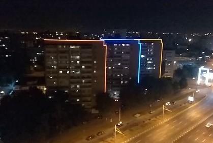 В Харькове на 25 зданиях появилась архитектурная подсветка