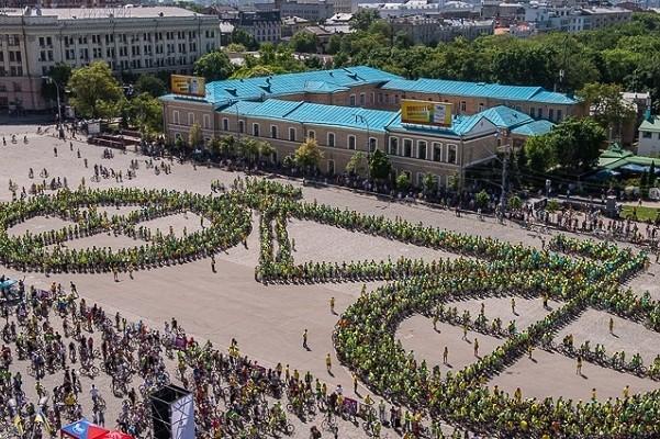 «Велодень-2019» в Харькове: флешмоб, велопарад и фестиваль райдер-культур