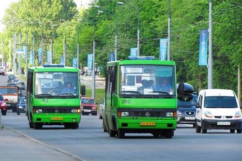 На улицах Харькова продолжают курсировать маршрутки